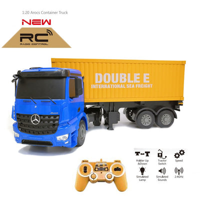 RC big Truck 1:10 Radio Control heavy truck Engineering Container Vehicle Electronic Hobby high quality Toy