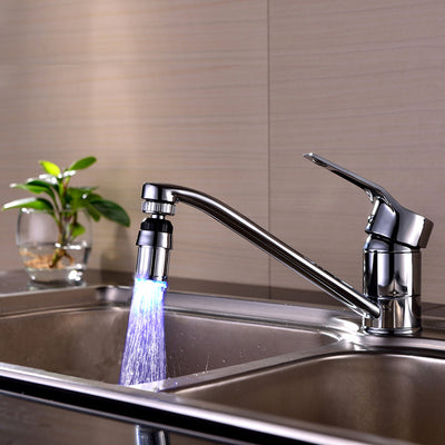 Kitchen Sink 7ColorS Changeful Water Glow Water Stream Shower LED Faucet Taps Light Bathroom Kitchen Accessories Faucets S006