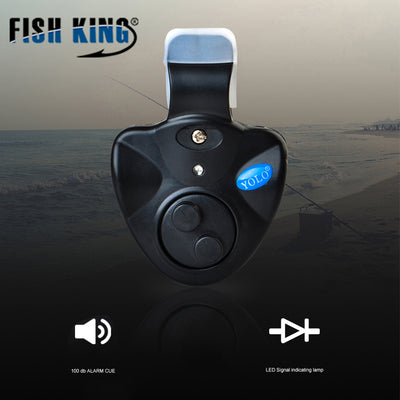FISH KING Fishing Bite Alarms 40g Electronic Wireless Clip-On ABS Fish Bite Alarm New LED Light For Fishing Tackle alarma