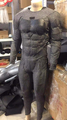Batman cosplay suit including muscle suit and out suit glued together