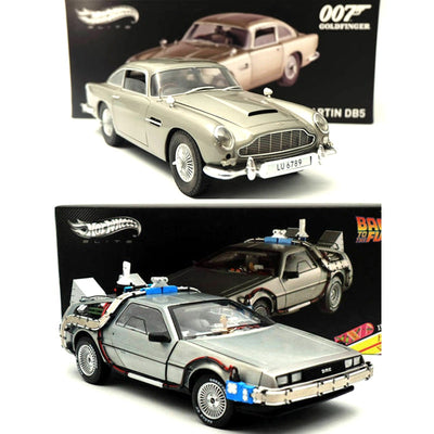 1:18 Back To The Future Time Machine Ultimate Edition BCJ97 Aston Martin DB5 Goldfinger 007 JAMES BOND BLY20 Diecast Toys Models