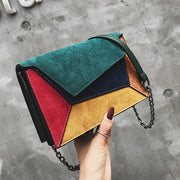 Driga Retro Matte Patchwork Crossbody Bags for Women Messenger Bags Chain Strap Shoulder Bag Lady Small Flap criss-cross Bag