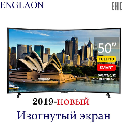 TV 50 inch ENGLAON UA500SF 4K Smart TV Android 6.0 DVB-T2 Curved LED TV sTelevision
