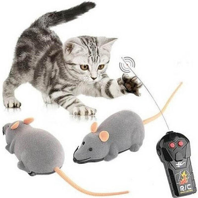 New Remote Control Electronic Wireless Rat Mouse Toy For Cat Dog Pet Funny Gift Drop shipping