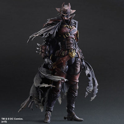 1 PLAY ARTS 26cm Wild West Batman Timeless Red Version Action Figure Model Toys