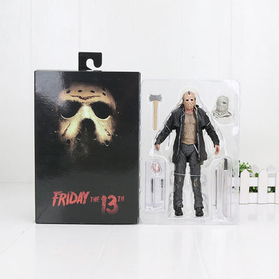 18cm NECA Horror Friday the 13th Part 2 Jason Voorhees Toys PVC Action Figures Collectible Model Toy Dolls