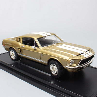 1/18 big scale classics retro old Ford Shelby Mustang GT 500KR 1968 racing die casting vehicles metal model car toys gifts kid's
