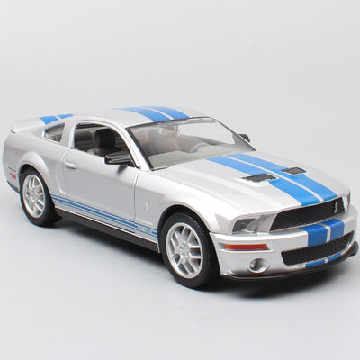 1/24 road signature Ford Mustang Shelby GT 500 muscle racing cars 2007 Die cast Vehicles scales model miniature car toy for kids