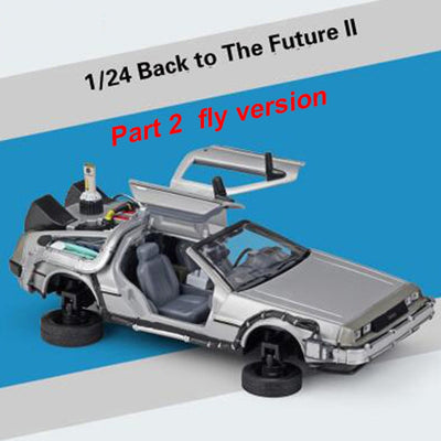 1/24 Scale Metal Alloy Car Diecast Model Part 1 2 3 Time Machine DeLorean DMC-12 Model Toy Back to the Future Collecection