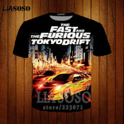 Fast & Furious Men's 3d Print T shirt Men Women Short Sleeve Tshirt Casual Harajuku Hip hop Couple sweatshirt Hooded hoodies f1