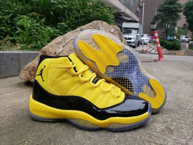 New Original Jordan 11 retro Men shoes basketball shoes sneakers Bumblebee yellow AJ11 high Sports Training shoes CD6846-001