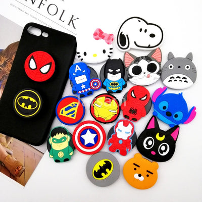 Universal mobile phone stretch bracket Cartoon Stitch air bag Phone Expanding phone Stand Finger phone car Holder