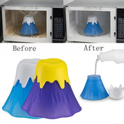 Microwave Oven Cleaner Steam Volcano Shape Home Kitchen Gadget Cleaning Tool Purple, Blue