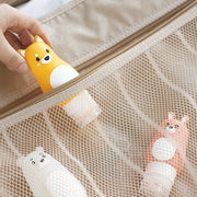 Animal Portable Cartoon Bear Penguin Silicone Travel Case Organizer Shampoo Shower Gel Lotion Storage Refillable Bottle