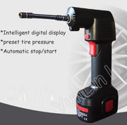 Wireless Intelligent Digital Display Car Air Pump Automotive Intelligent Inflatable Multi-function Handheld Portable Tire Pump