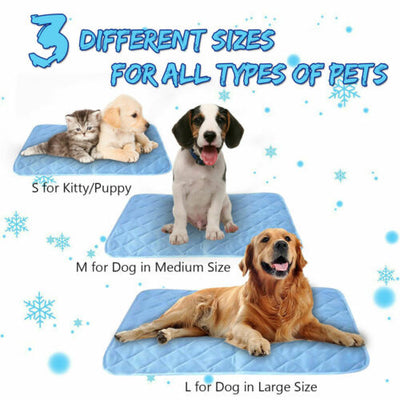 Self-Cooling Gel Pet Teddy Mattress Pet Cool Mat Bed Mat For Floor Bed Cool Dog Cushion Pad Keep Cool Pet Gel Cooling S M L