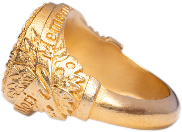 Men's & Women's Ring 925 Silver Sterling 24 carat gold plated Renan Pacheco Poima Paris Made In France