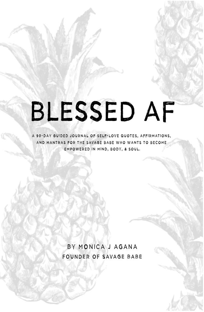 BLESSED AF 90-DAY GUIDED JOURNAL