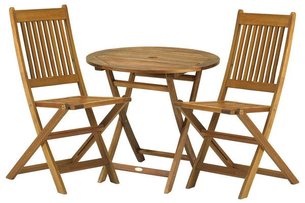 York 2 Seater Bistro Set with Folding Chairs