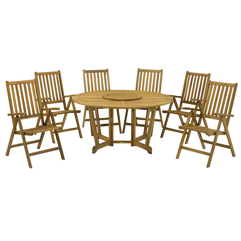 Henley 6 Seater Table with 6 Henley Recliner Chairs
