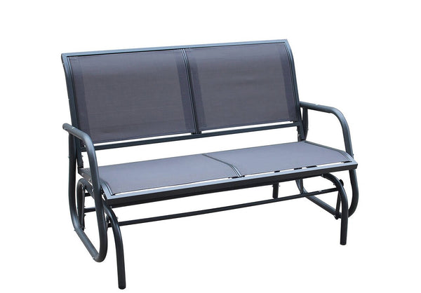 Cayman Black 2 Seat Glider Bench