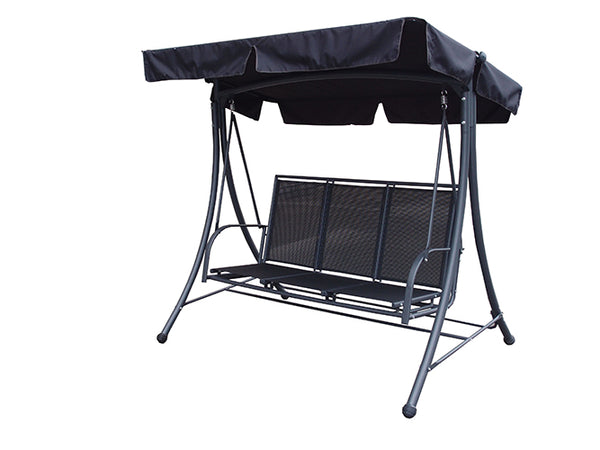 Sorrento Black 3 Seat Swing Hammock