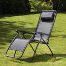 Black Folding Zero Gravity Garden Chair