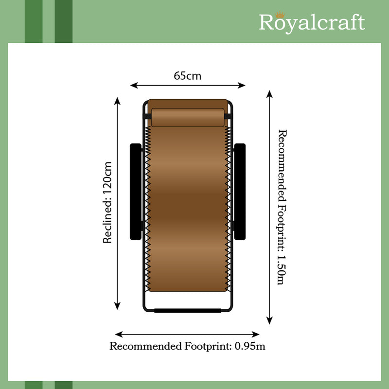 Royalcraft Brown Zero Gravity Relaxer