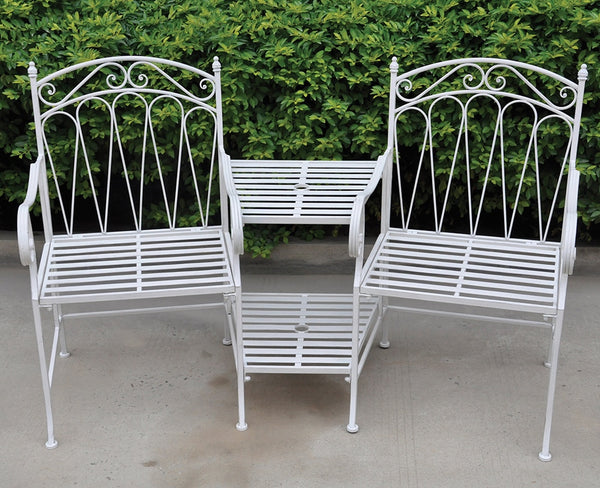 Romance Love Seat - Antique White