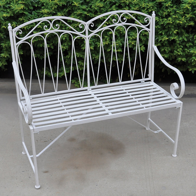 Romance Two Seat Bench - Antique White