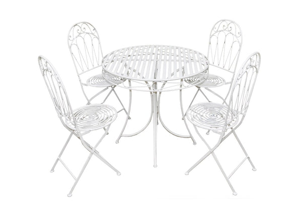 Romance 4 Seat Dining Set - Antique White