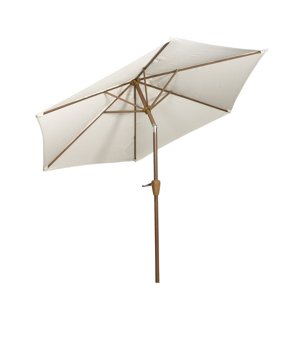 Ivory 2.5m Woodlook Crank and Tilt Parasol