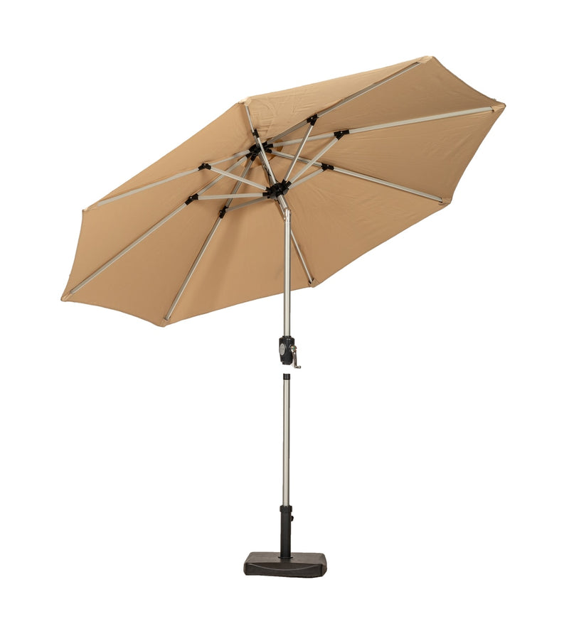 Sahara 2.7m Crank and Tilt LED Strip Parasol