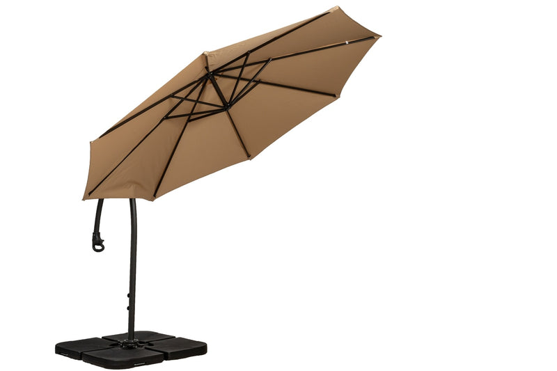 Sahara 3m Deluxe Pedal Operated Rotational Cantilever Parasol