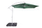 3m Alu Steel Green Cantilever Parasol - Crank and Tilt