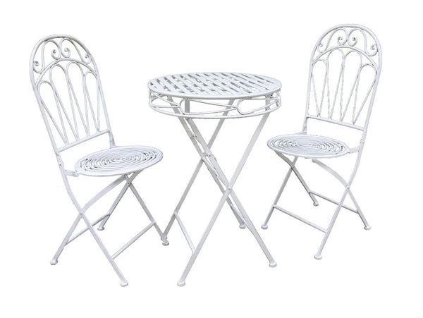 Romance 2 Seater Bistro Set - Antique White