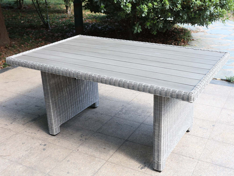Rectangular Dining Table - Aluminium Top - Grey