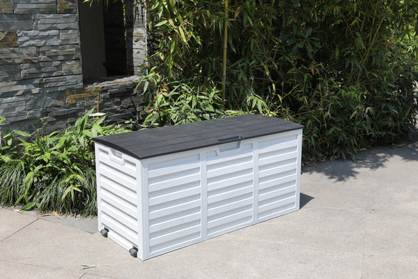 Faro 250 Litre Storage Box - White and Black