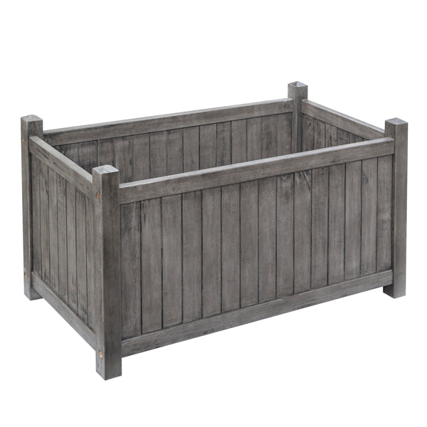 Alderley Grey Rectangular Planter