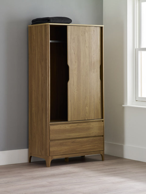 Norsk 2 Drawer 2 Door Wardrobe