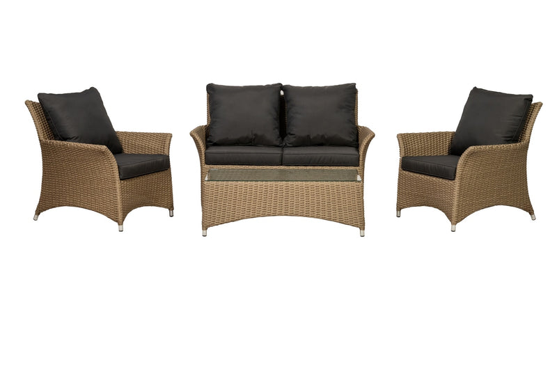 Bali 4 Seater Deluxe 4pc Lounging Coffee Set