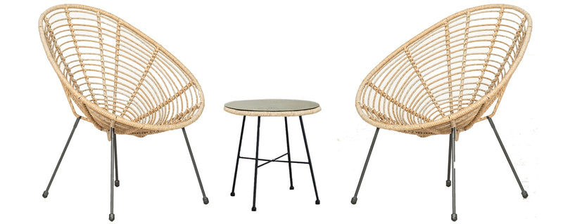 Monaco Egg Chair Set - Bamboo