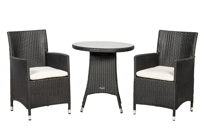 Cannes Ebony Black Bistro Set