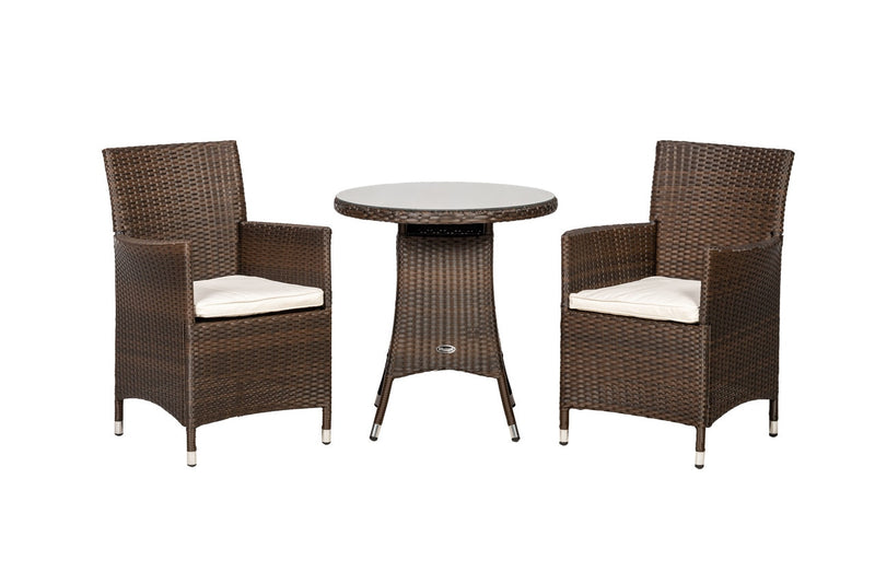 Cannes Mocha Brown 2 Seater Set