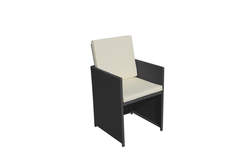 Cannes Black 10 Seater KD Cube Set