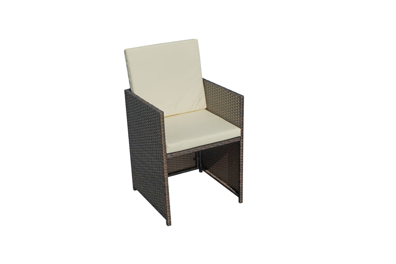 Cannes Brown 10 Seater KD Cube Set
