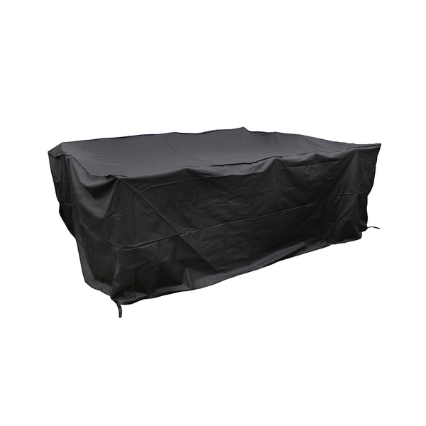 Heavy Duty Medium Rectangular Polyester Cover - Black