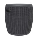 Faro Black Sun Lounger and Ice Bucket Set