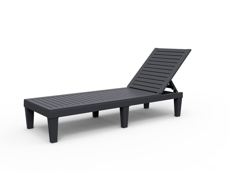 Faro Black Single Sun Lounger