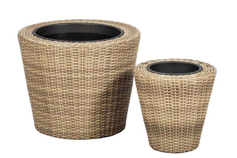 Genoa Set of 2 Round Planters
